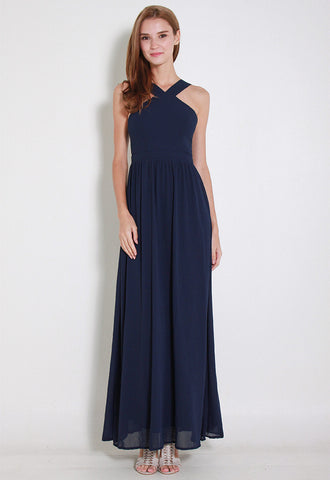 Cartell Chiffon Maxi Dress - ll2671 (Blue)