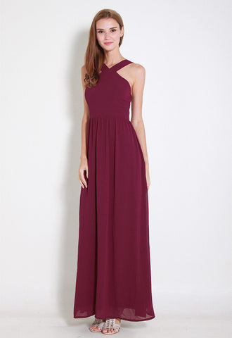 Cartell Chiffon Maxi Dress - ll2671 (Red)