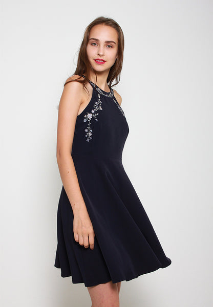 Elsie Embroidery Dress - ll3083 (Blue)