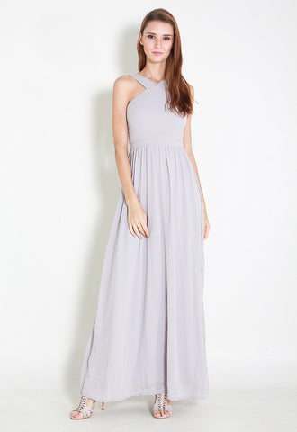 Cartell Chiffon Maxi Dress - ll2671 (Grey)