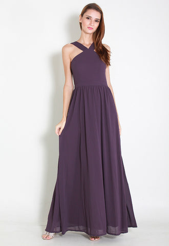 Cartell Chiffon Maxi Dress - ll2671 (Purple)