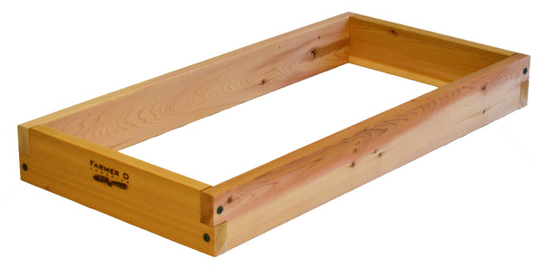 "Rectangular 6"" deep Notched Raised Beds"