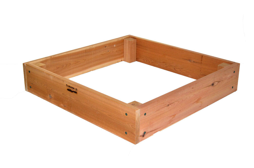 "Square 10"" deep Raised Beds with Posts"