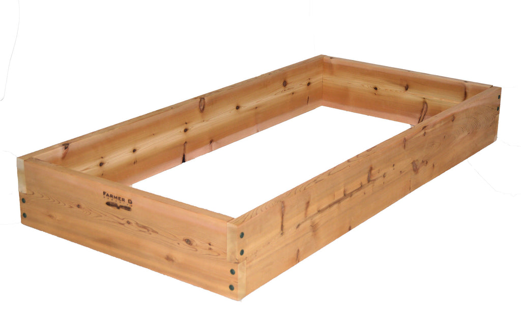 "Rectangular 10"" deep Notched Raised Beds"
