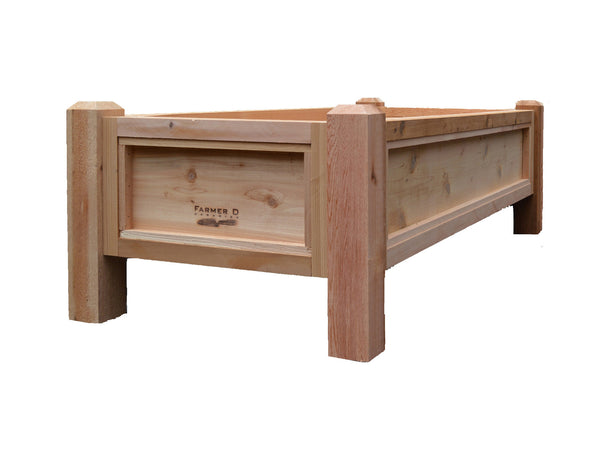 elevated colonial cedar panel raised beds - Raised Bed Frames