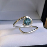 sterling silver march birthstone ring
