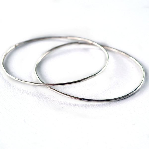 silver stacking bangle bracelets