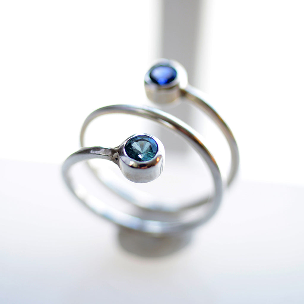 rings engraved stackable with birthstone