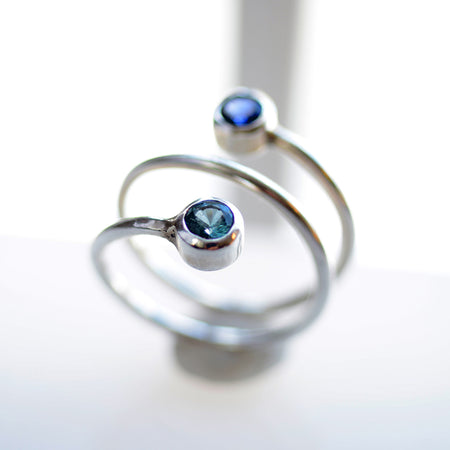 Aquamarine Swirl Ring