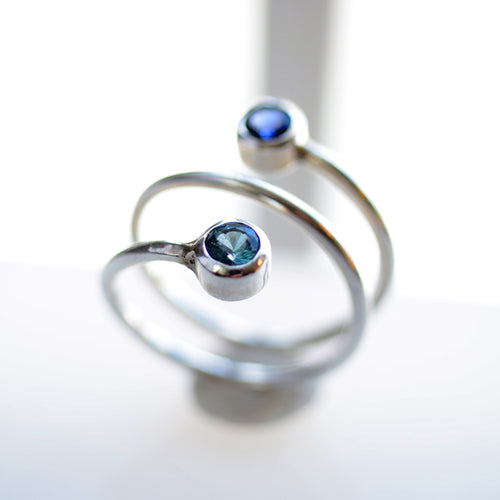 Twisted Birthstone Ring