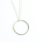 14 karat gold pendant on triple sterling silver chains