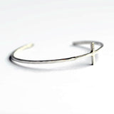 sterling silver cross cuff bracelet