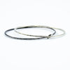 set of two stacking bangle bracelets