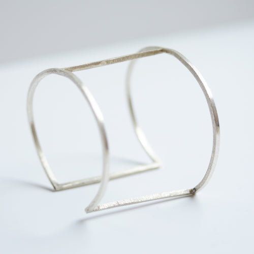 geometric cuff bracelet in sterling silver