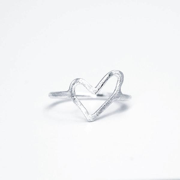 sterling silver heart ring love yourself