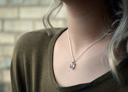 herkimer diamond pendant necklace