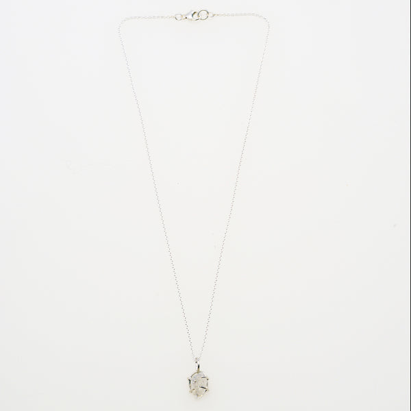 herkimer diamond necklace in sterling  silver