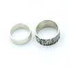 sterling silver wedding bands for him and her