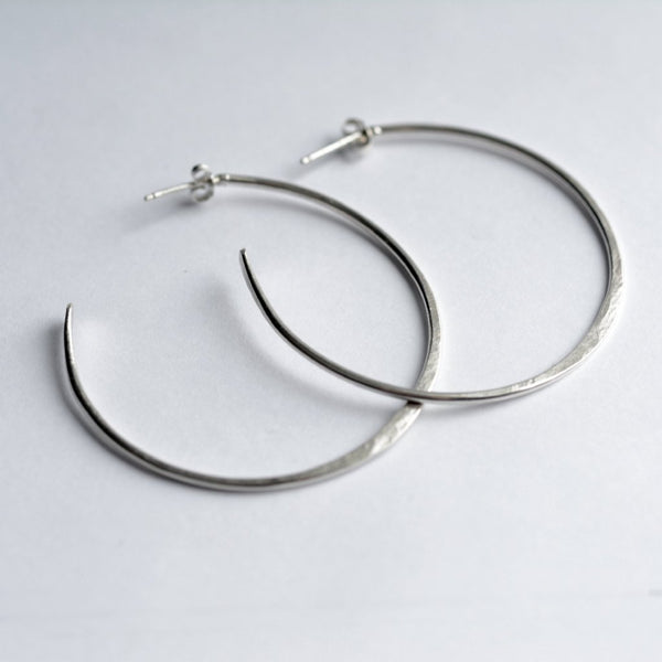 silver hoop earrings sterling silver hoop earrings