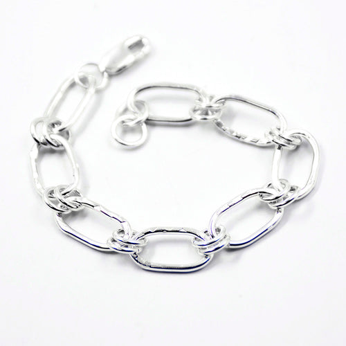 we are all in this together silver link bracelet