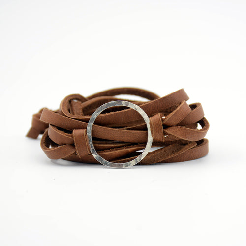 simple leather wrap bracelet