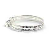 mom bangle bracelet set love you forever