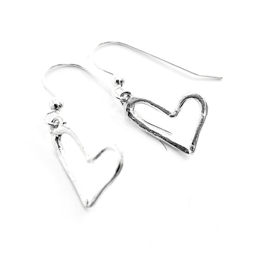 YOU are loved mini heart earrings