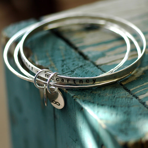 custom bangle bracelets personalized bracelets gift for her