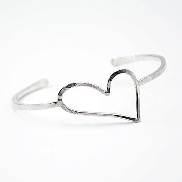 open heart cuff bracelet love yourself