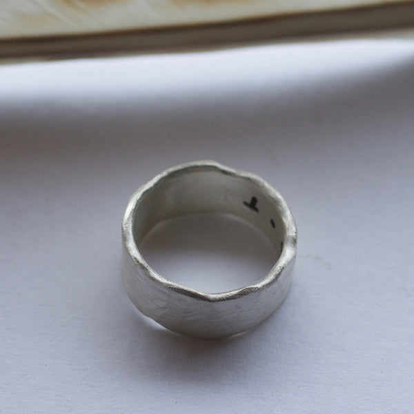mens wedding band rustic ring for him