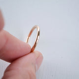 14 karat rose gold wedding band