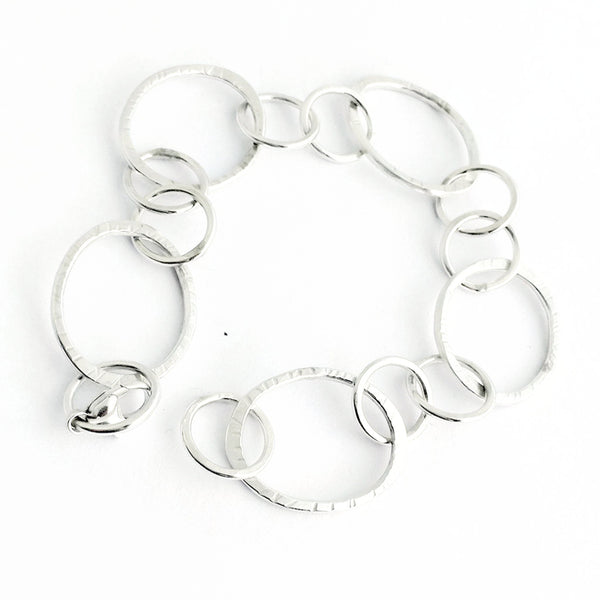 silver chain links bracelets for layering