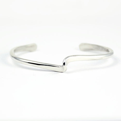 silver twisted layering cuff bracelet