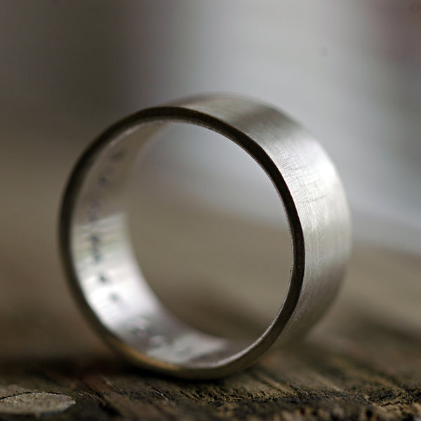 sterling silver modern wedding band