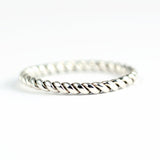 sterling silver twisted stacking ring or thumb ring