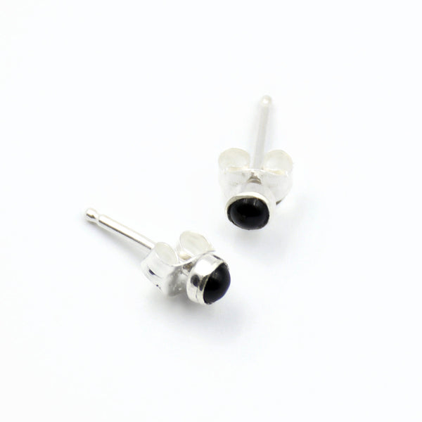 tiny stone stud earrings