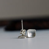 sterling silver stud earrings square stud earrings