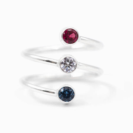 Birthstone Stacking Rings