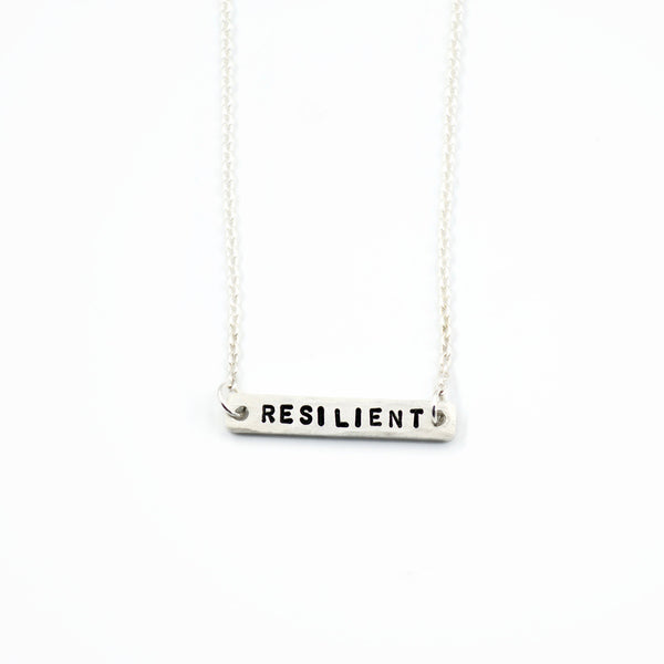 silver word of the year necklace
