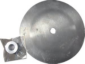 "7"" Aluminum heel finish disc for finishing heels on horseshoes"