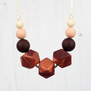 Honeysuckle Hope: Flora Teething Necklace - Pebbles and Lace