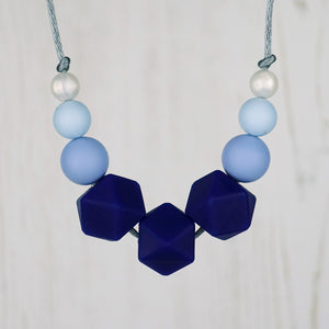 Bluebell Beauty: Flora Teething Necklace - Pebbles and Lace