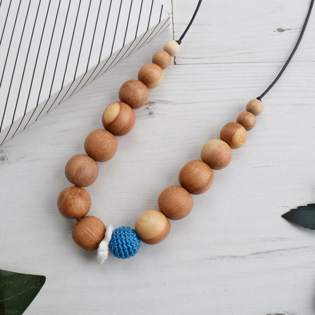 Thames: Freshwater Wooden Teething Necklace