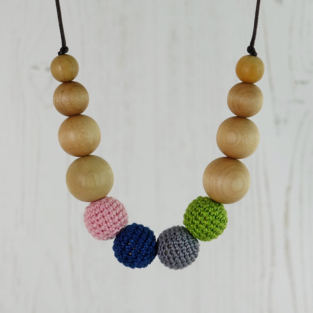 Meribel: Snowscape Wooden Teething Necklace, Beech