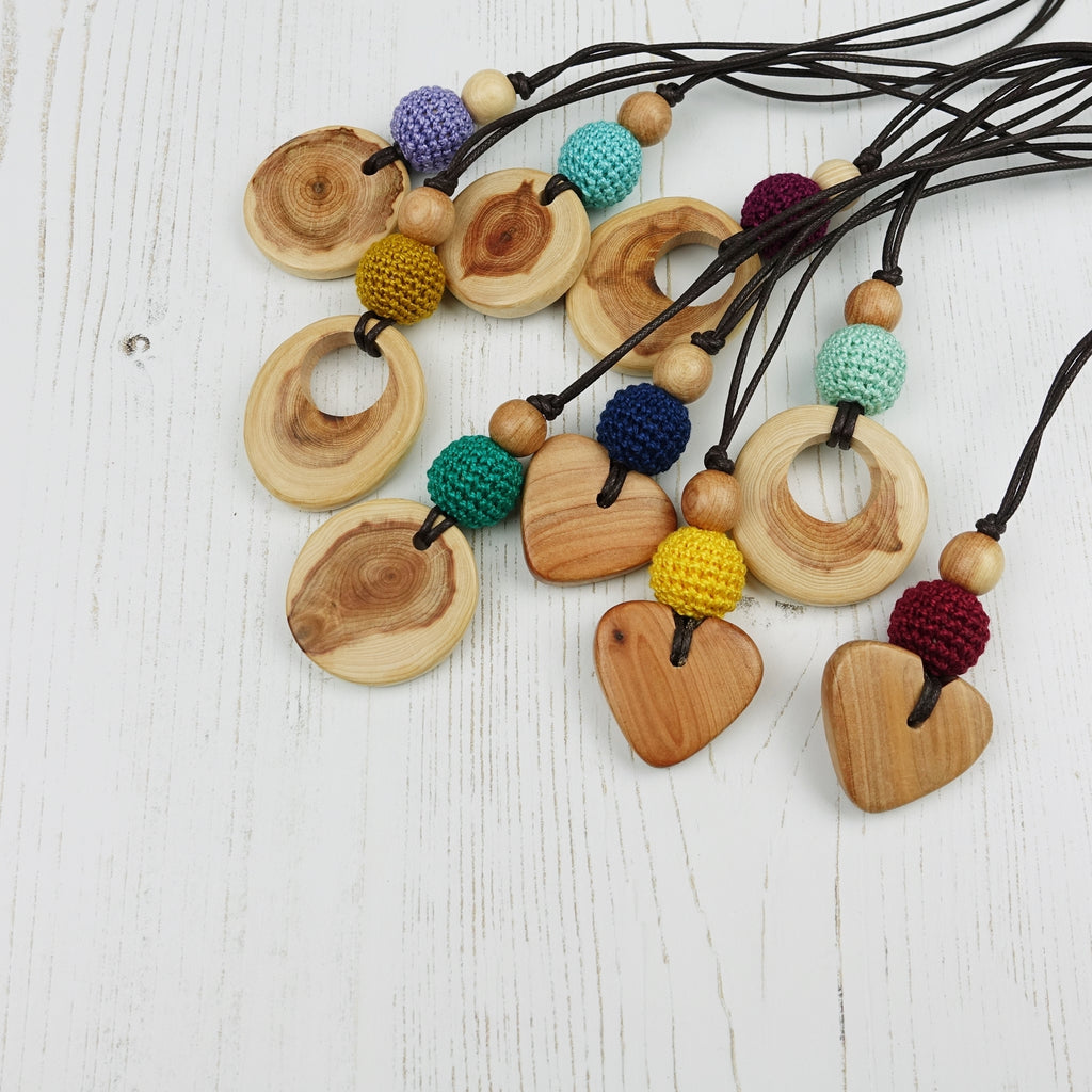 Purcell: Baroque Wooden Teething Necklace, Juniper