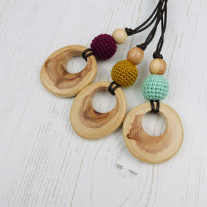 Purcell: Baroque Wooden Teething Necklace, Juniper - Pebbles and Lace
