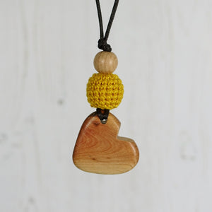 Vivaldi: Baroque Wooden Teething Necklace, Juniper - Pebbles and Lace
