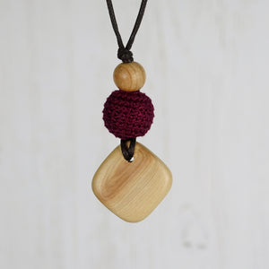 Bach: Baroque Wooden Teething Necklace, Juniper - Pebbles and Lace