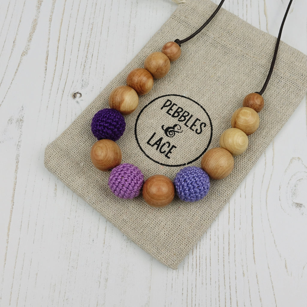 Titania: Fair Play Wooden Teething Necklace, Juniper
