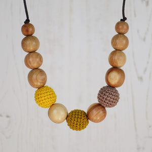 Macbeth: Fair Play Wooden Teething Necklace, Juniper - Pebbles and Lace